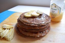 Banana and honey buckwheat pancakes