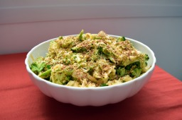 Chinese cabbage and broccoli salad in a creamy Asian-style dressing